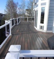 Large composite deck