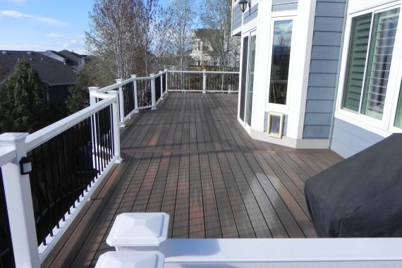 Large composite deck