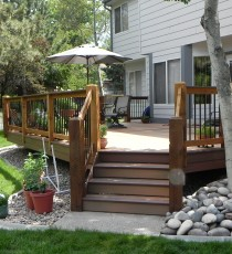 Large garden level deck
