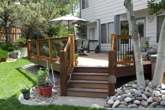 Large garden level deck